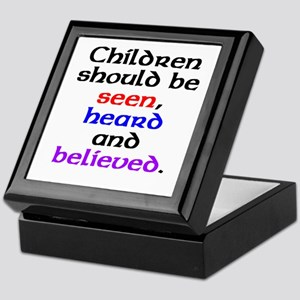 Seen, heard & believed Keepsake Box
