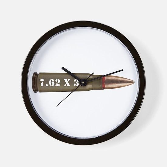 7.62 Ak Ammo Design Wall Clock
