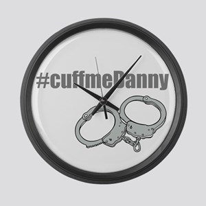 Cuff me Danny Large Wall Clock
