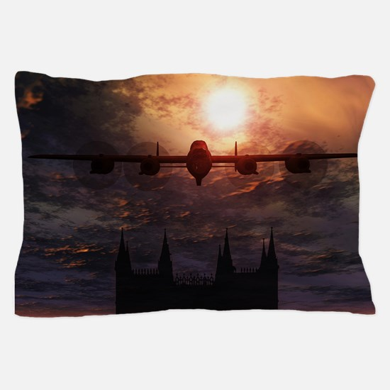Lancaster Bomber Over Lincoln Pillow Case