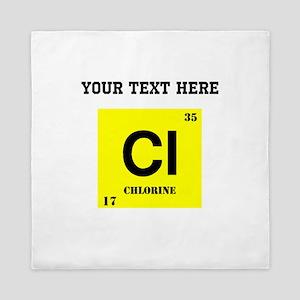 Custom Chlorine Queen Duvet