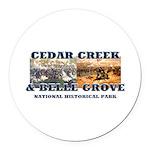 ABH Cedar Creek Round Car Magnet