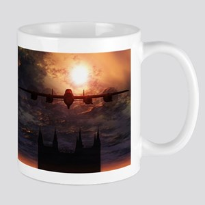 Lancaster Bomber Over Lincoln Cathedral Mug Mugs