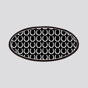 Black and White Horseshoe Pattern Patches