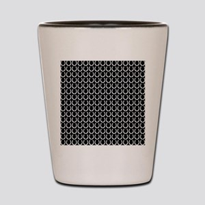 Black and White Horseshoe Pattern Shot Glass