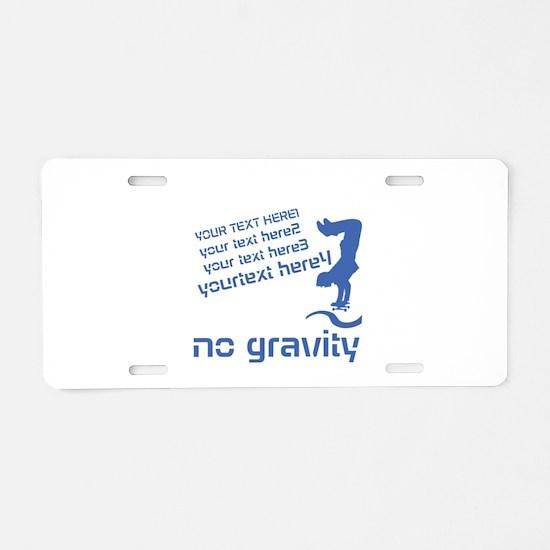 Cool Skater Aluminum License Plate