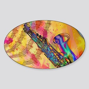 Colorful saxaphone Sticker