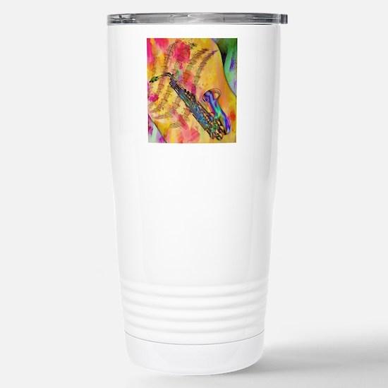 Colorful saxaphone Stainless Steel Travel Mug
