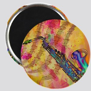Colorful saxaphone Magnets