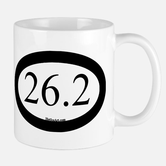 26.2 Running Oval Black/Black Mugs