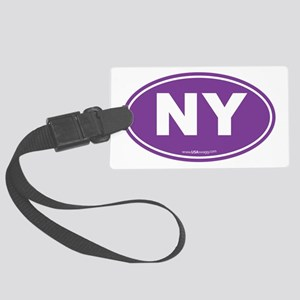 New York NY Euro Oval Large Luggage Tag