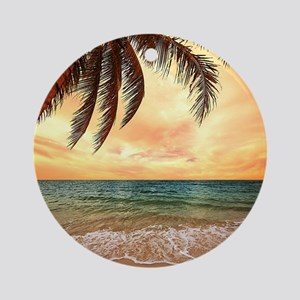 Ocean Sunset Ornament (Round)