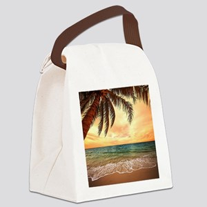 Ocean Sunset Canvas Lunch Bag