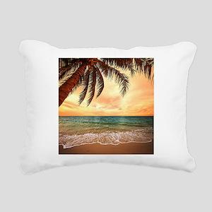 Ocean Sunset Rectangular Canvas Pillow