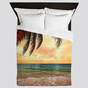 Ocean Sunset Queen Duvet