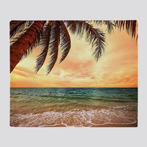 Ocean Sunset Throw Blanket