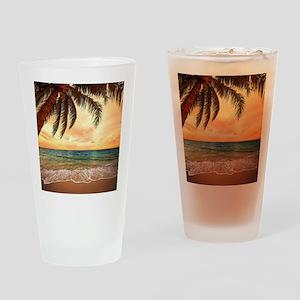 Ocean Sunset Drinking Glass