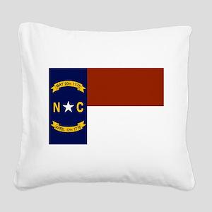 North Carolina Flag Square Canvas Pillow