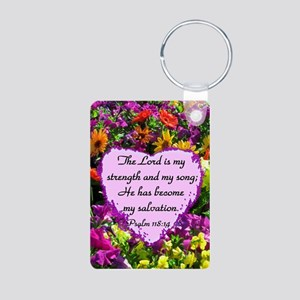 PSALM 118:14 Aluminum Photo Keychain