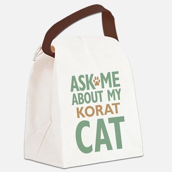 Korat Cat Canvas Lunch Bag