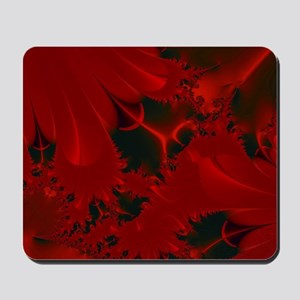 Red Fusions Fractal Art Mousepad