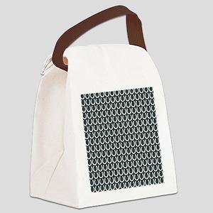 Horseshoe Pattern Canvas Lunch Bag