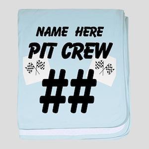 Pit Crew baby blanket