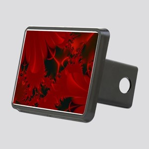 Red Fusions Fractal Art Rectangular Hitch Cover