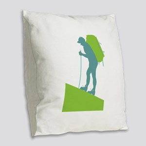 Trail Trek Burlap Throw Pillow