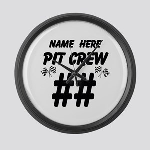 Pit Crew Large Wall Clock
