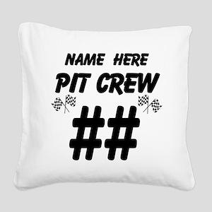 Pit Crew Square Canvas Pillow