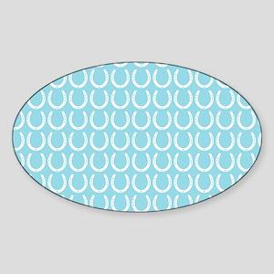 Horseshoe Pattern Sticker (Oval)
