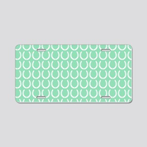 Horseshoe Pattern Aluminum License Plate