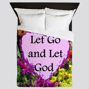 LET GO AND LET GOD Queen Duvet