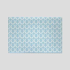 Horseshoe Pattern Rectangle Magnet