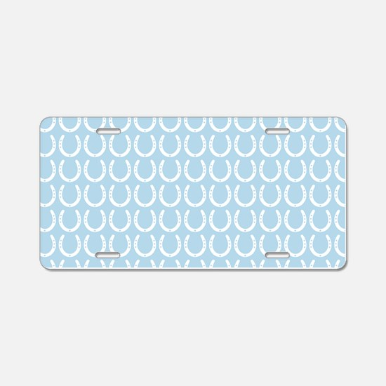 Horseshoe Pattern Aluminum License Plate