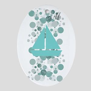 Baby Sailor Monogram Oval Ornament