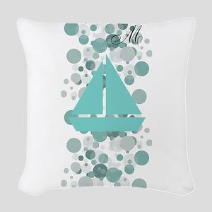 Baby Sailor Monogram Woven Throw Pillow