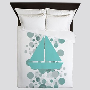 Baby Sailor Monogram Queen Duvet