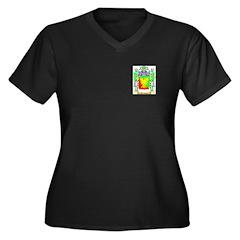 Template Women's Plus Size V-Neck Dark T-Shirt