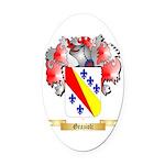 Grazioli Oval Car Magnet