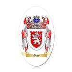 Gray Oval Car Magnet