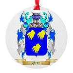 Grau Round Ornament