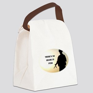 No Shame in PTSD Canvas Lunch Bag