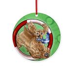 American Cocker Spaniel Buff Ornament (round)