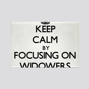 Keep Calm by focusing on Widowers Magnets
