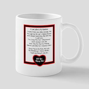A Love Letter/t-shirt Mugs