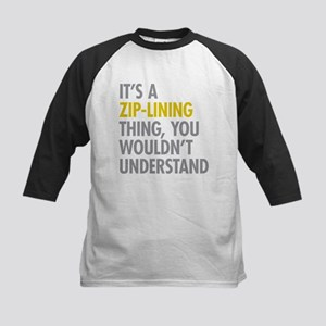 Its A Zip-Lining Thing Kids Baseball Jersey