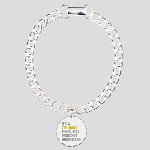 Its A Zip-Lining Thing Charm Bracelet, One Charm