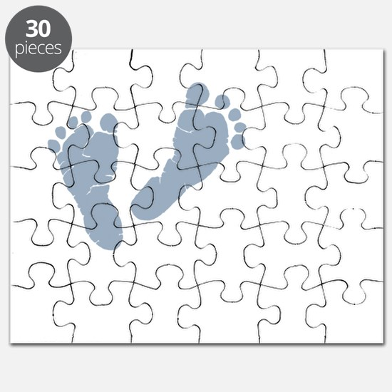 Baby Blue Footprints Puzzle